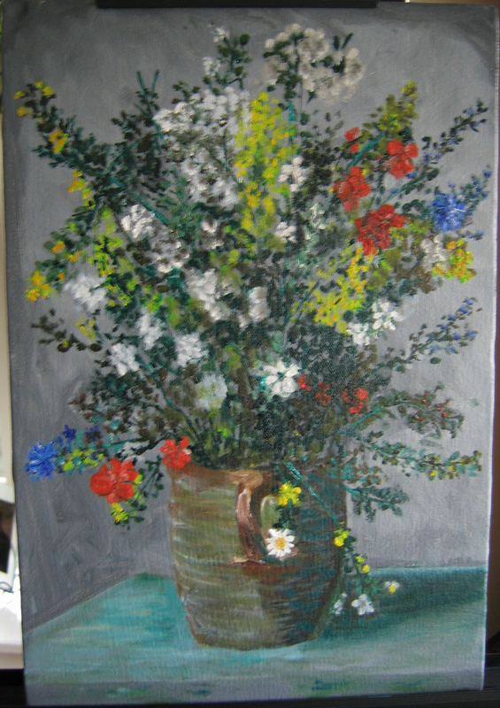 Renoir's Flowers - 16 in x 20 in - Oil on Canvas - 2005 - Private Collection