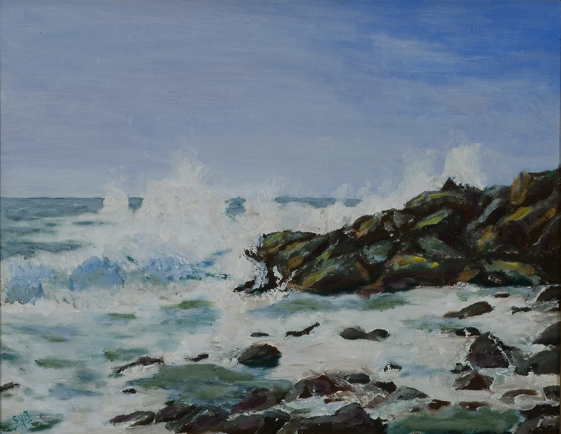 The Surf at Monhegan Island - 14 in x 18 in - Oil on Canvas - 2005 - Private Collection