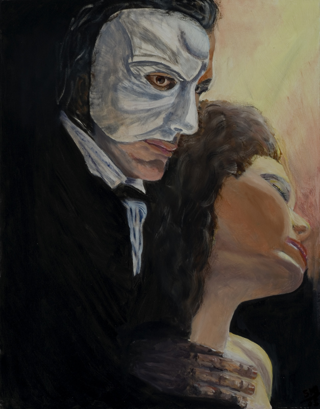 Phantom of the Opera - 22 in x 28 in - Oil on Canvas - 2005 - Private Collection of Joy Hancher