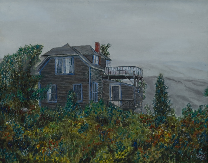 Haraven Cottage, Monhegan Island   18 in x 14 in Oil on Canvas 2005   Private Collection of Christopher J. Dodd