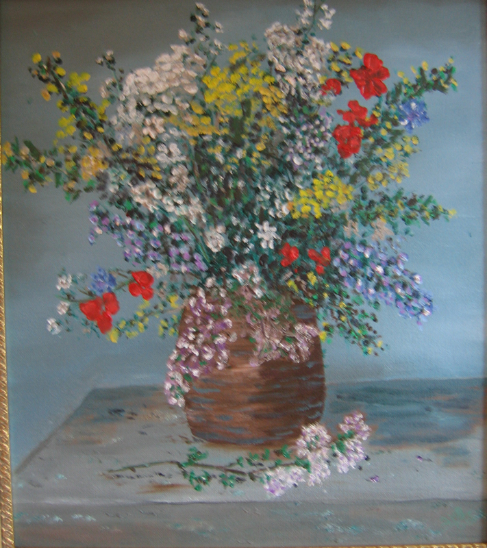 "Renoir's Flowers   16"" x 20"" Oil on Canvas 2005   Private Collection"