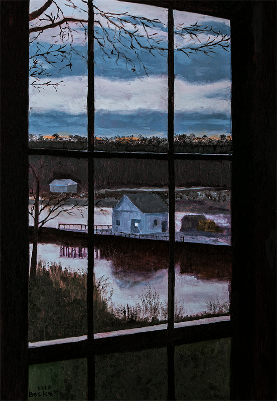 View From Strasiz, Orr's Island, ME - 19 in x 27 1/2 in - Oil on Panel - 2016