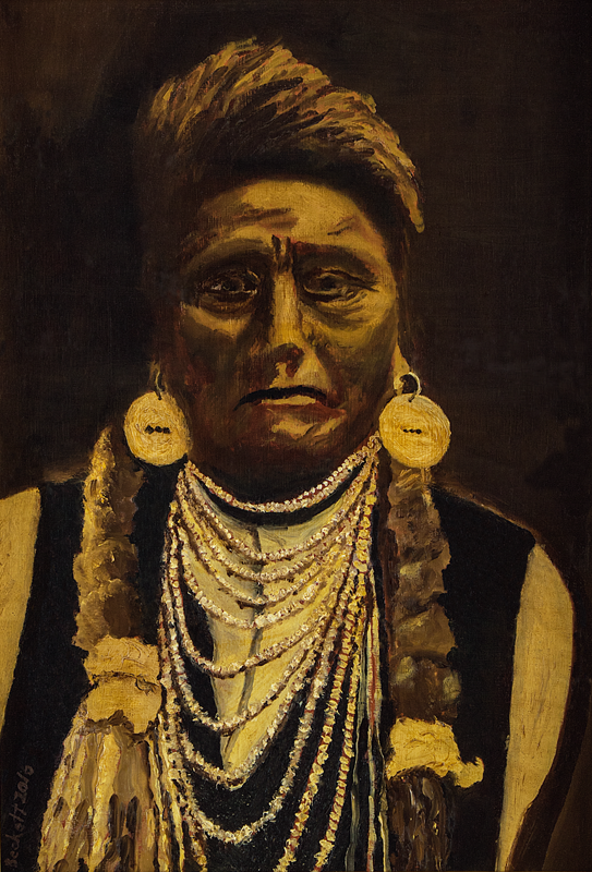 Chief Joseph, Nez Perce   13 3/4 in x 20 in Oil on Panel 2016