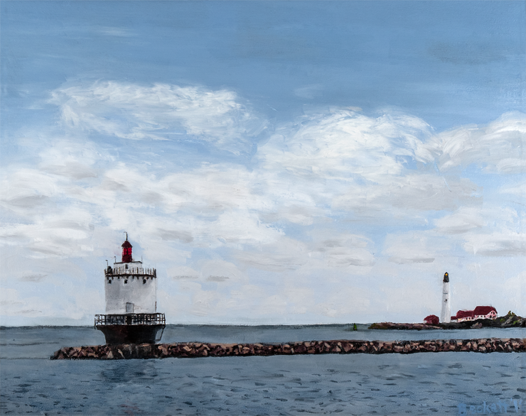 Spring Point, South Portland, Maine   16 in x 20 in Oil on Canvas 2018