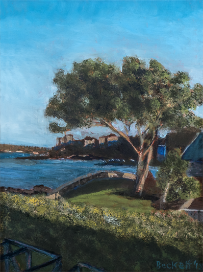 View from Ocean House    9 in x 12 in Oil on Panel 2018   Private Collection Mary Giftos