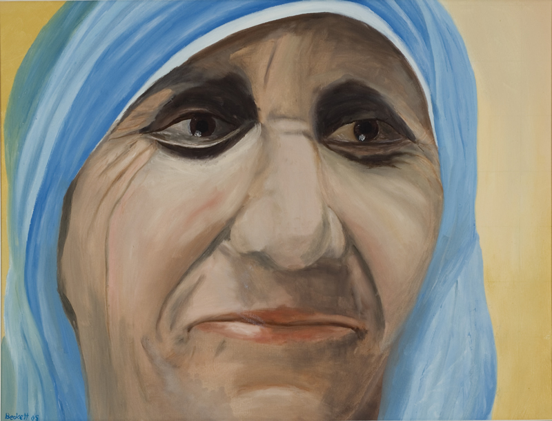 Mother Theresa - 26 in x 22 in - Oil on Canvas - 2005