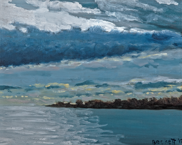 Over Harpswell   8 in x 10 in Oil on Panel