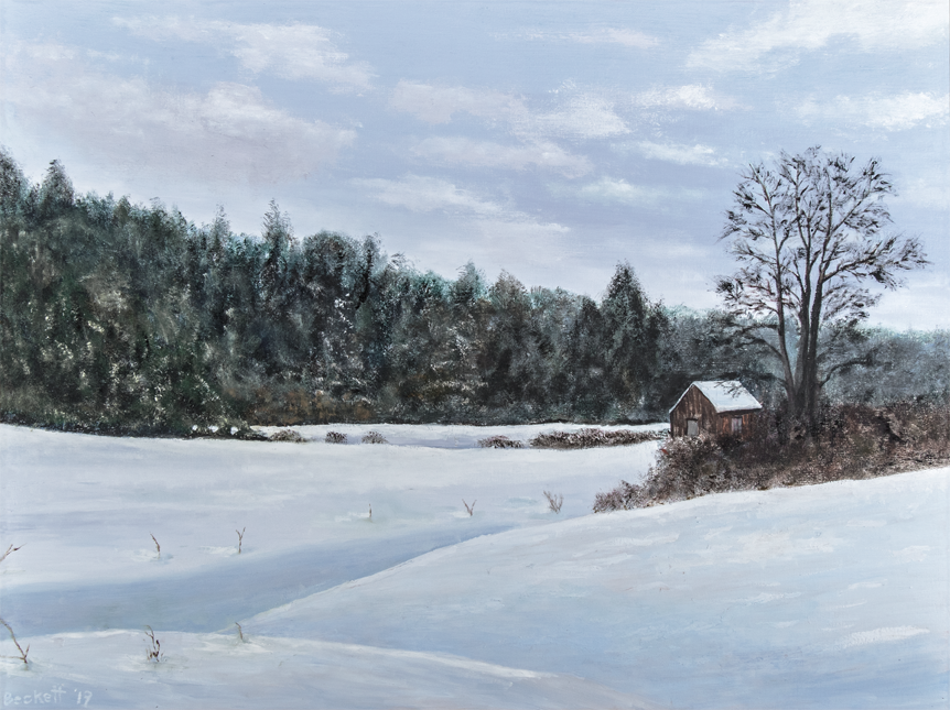 Winter Scene   24 in x 32 in   Oil on Canvas 2019