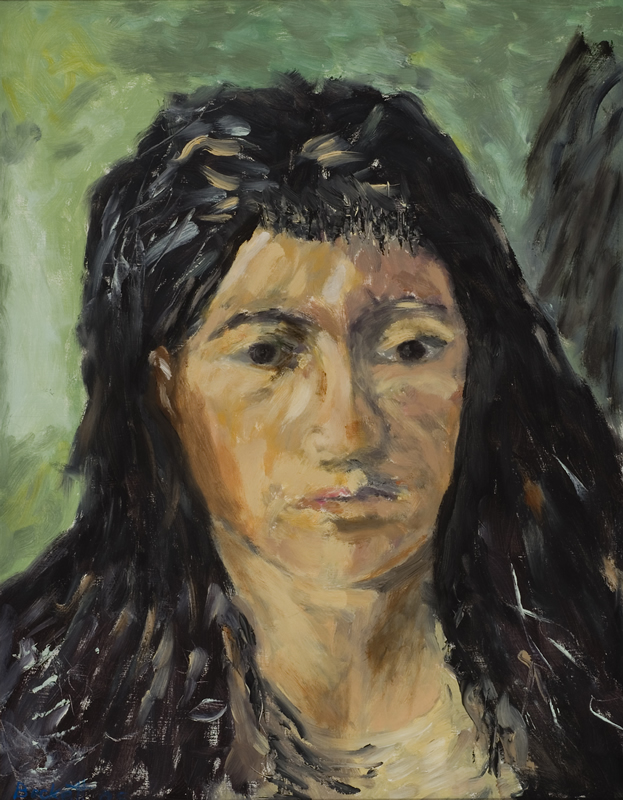 Van Gogh Study: Head of a Woman   14 in x 18 in Oil on Panel 2005