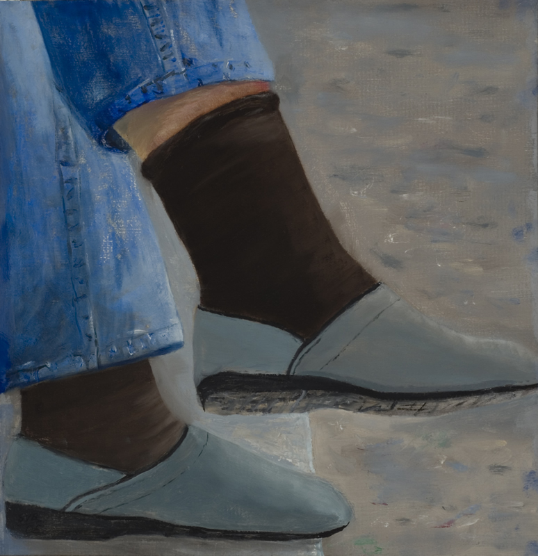 "The Feet 12"" x 12"" Oil on Canvas Panel 2005"