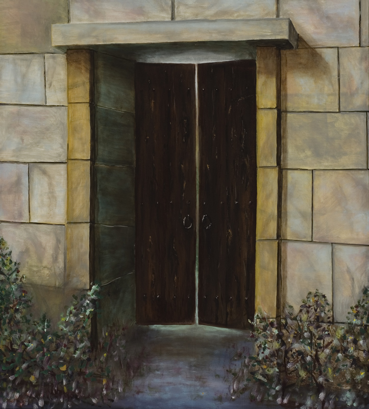 The Doorway   27 in x 30 in Oil on Canvas 2007   Private Collection of Susan McKinley