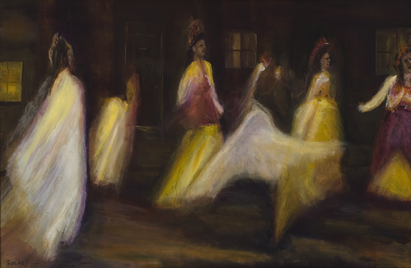 La Danza al Inti Raymi   (The Dance to the Sun God)   20 in x 30 in Oil on Canvas 2007   Private Collection of Susan McKinley