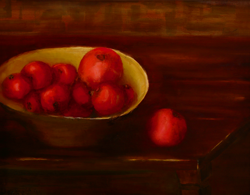 Tomatoes   11 in x 14 in Oil on Canvas 2011 Private Collection of Mary Giftos