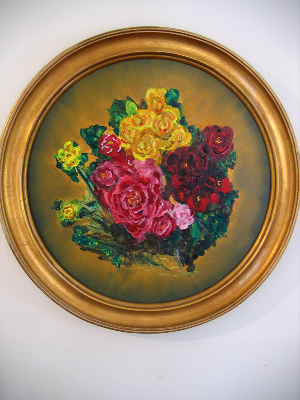 Flowers that Last   18 in diameter Oil on Panel 2012   Private Collection of Joy Baldwin