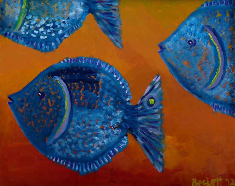 Tres Pescados   8 in x 10 in Oil on Panel 2012   Private Collection of Nancy and John Charlebois