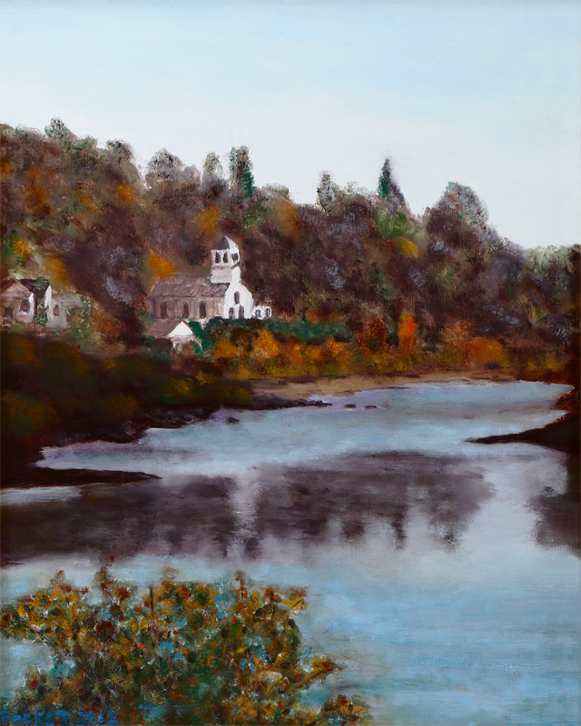 East Machias River   16 in x 20 in Oil on Panel 2012   Photo Reference by Donna Fincher