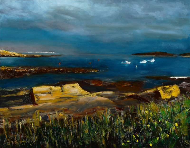 Kettle Cove - Cape Elizabeth, Maine - 11 in x 14 in Oil on Canvas - 2012