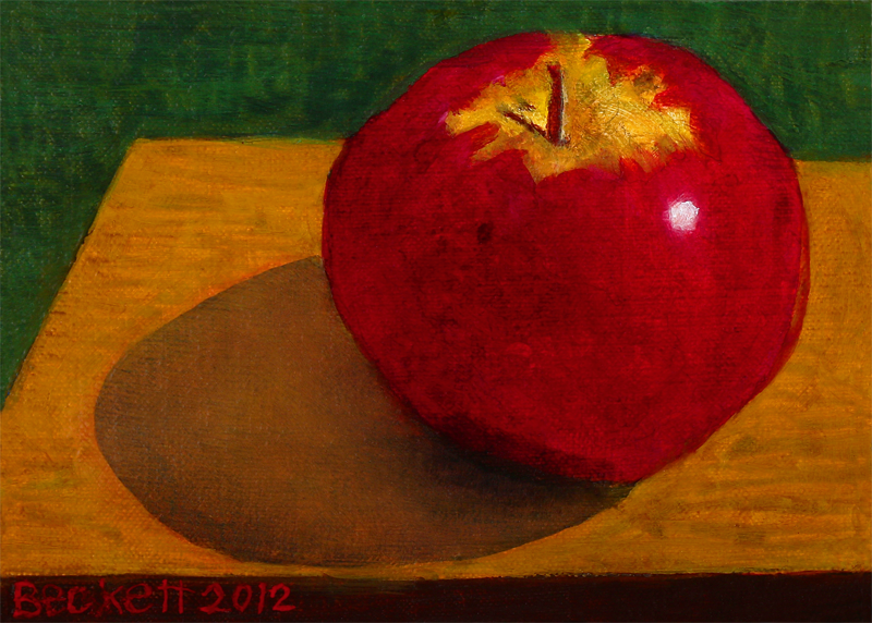 Apple   5 in x 7 in Oil on Belgian Linen on Panel 2012