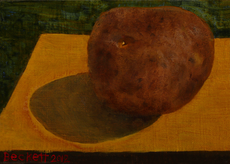 Potato - 5 in x 7 in Oil Belgian Linen on Panel - 2012