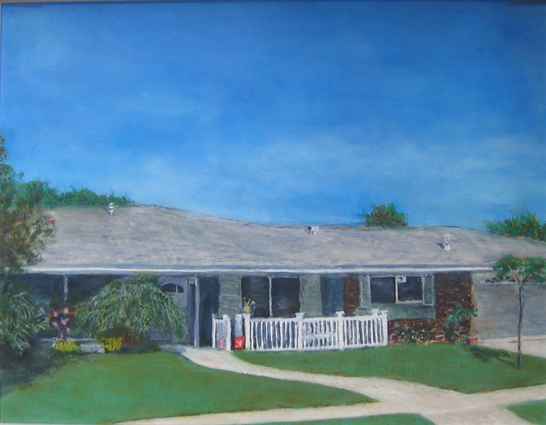 Joy's Home - 14 in x 18 in Oil on Canvas 2015 - Private Collection of Joy Baldwin
