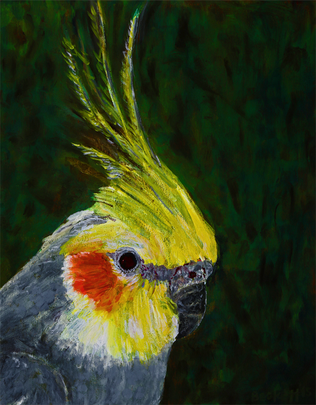 'The Little Bird,' Isabelle - 11 in x 14 in Oil on Canvas 2015 - Private collection of Mary Giftos