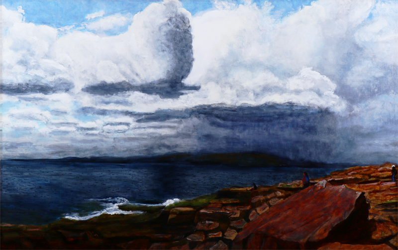 Clouds Over Acadia   24 in x 38 in Oil on Canvas 2015   Photo Reference by Tom Andrews
