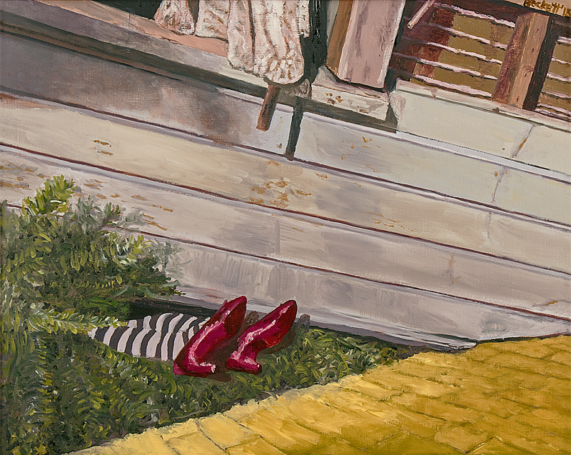 Study: Wizard of Oz - 16 in x 20 in Oil on Canvas - 2015 - Private Collection of Sue McKinley