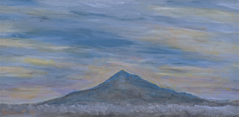 Mount Hood - 10 in x 20 in Oil on Canvas - 2015